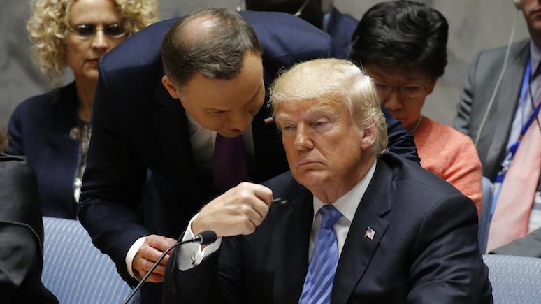 Wirtualna Polska: на встрече с Трампом для Дуды главное — не сиять от радости и совладать с эмоциями