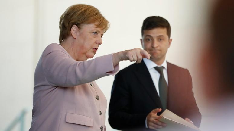 N-TV: Меркель поддержала Зеленского в вопросе антироссийских санкций