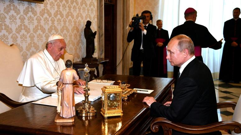 Atlantico увидел преемственность отношений Путина и Ватикана в отличие от прошлых времён