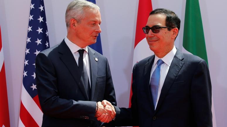 Bloomberg: министр финансов США напомнил Европе, что она обязана соблюдать антииранские санкции