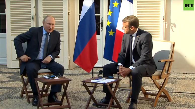 L'Express: сотрудничество несмотря на разногласия — Путин и Макрон сделали совместное заявление