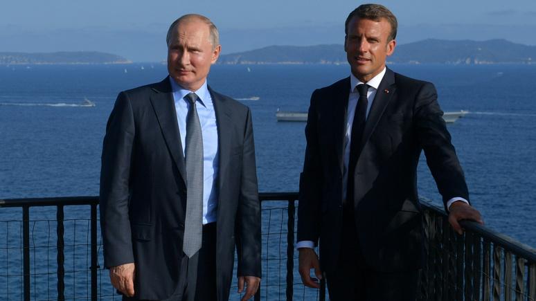 Gala: комплимент или колкость? — Путин похвалил «великолепный загар» Макрона