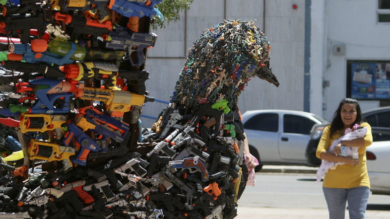Sonntagsblatt: дети по всему миру жертвуют игрушки на строительство «Храма разоружения»