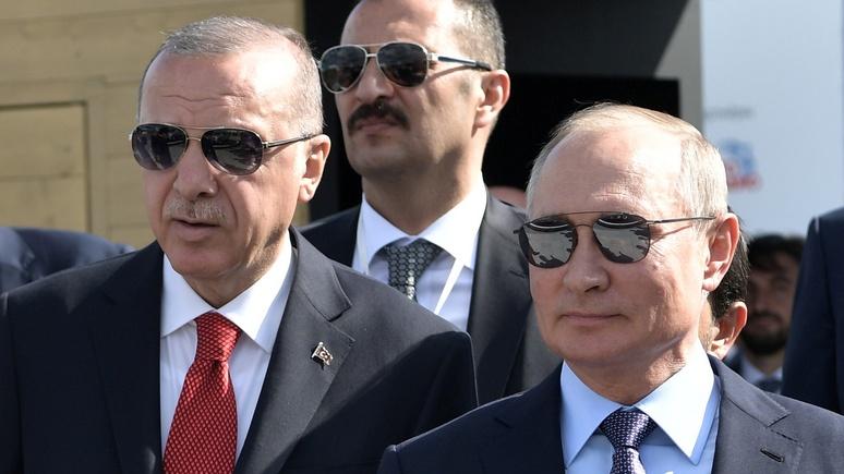 Обозреватель Foreign Policy: Путин умело манипулирует Эрдоганом