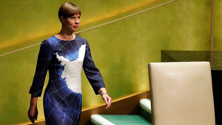 ERR: платьем с Антарктидой президент Эстонии напомнила в ООН о спасении планеты