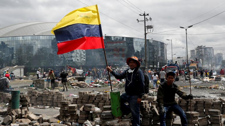 El Comercio: «российский след» обнаружили в недавних протестах в Эквадоре