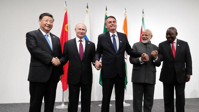 Обозреватель Bloomberg: из союза экономик БРИКС стал геополитической силой