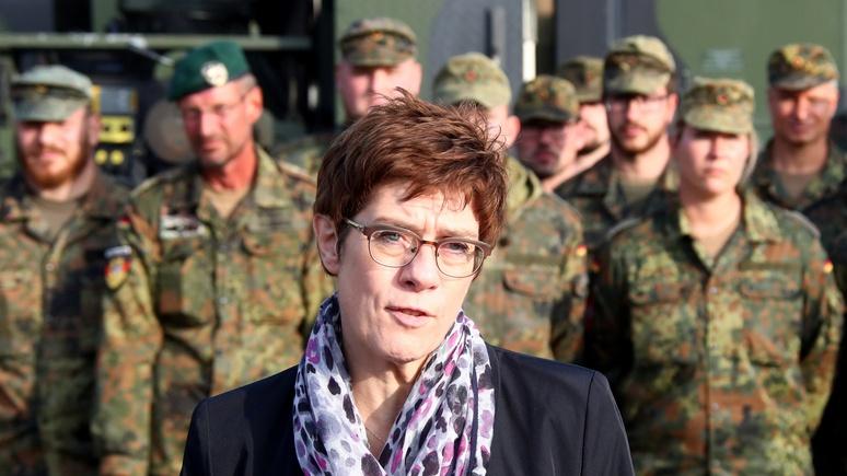 Министр обороны Германии заявила о силовом отстаивании интересов страны за рубежом