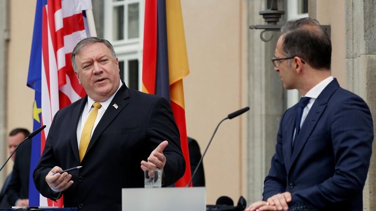 Bild: Помпео приехал в Германию укреплять трансатлантическую дружбу
