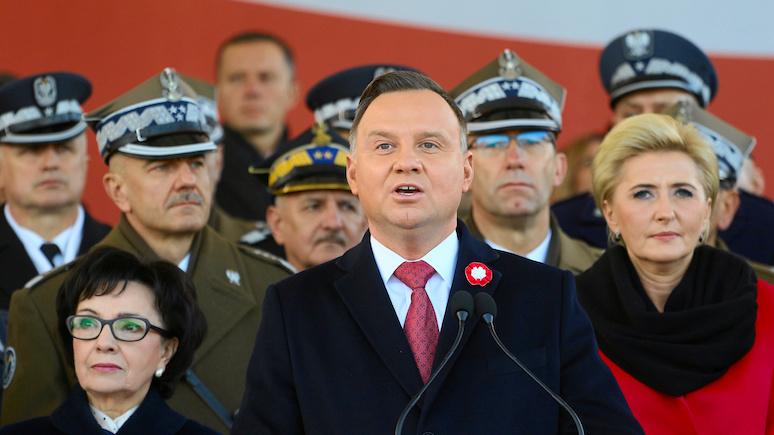 Rzeczpospolita: в День независимости Польши Дуда вновь заявил о нежелании страны оказаться в сфере российского влияния