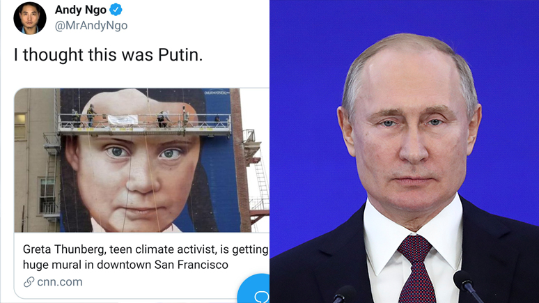 Newsweek: Грета Тунберг или Владимир Путин — в Twitter обсуждают, как они похожи