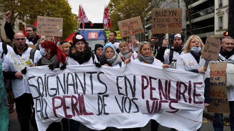 Le Figaro: опасаясь массовых протестов, правительство Макрона тормозит реформы