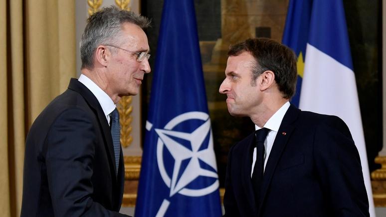 Les Echos: Макрон объяснил Столтенбергу свой «диагноз» для НАТО