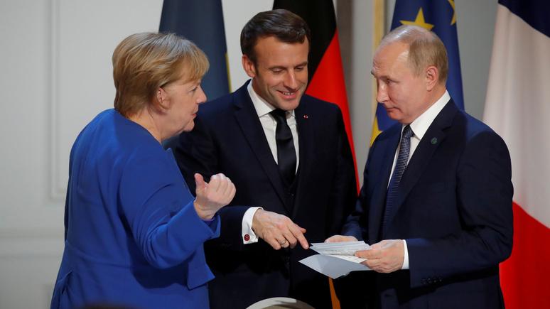 Меркель о саммите «нормандской четвёрки»: мы сдвинулись с мёртвой точки