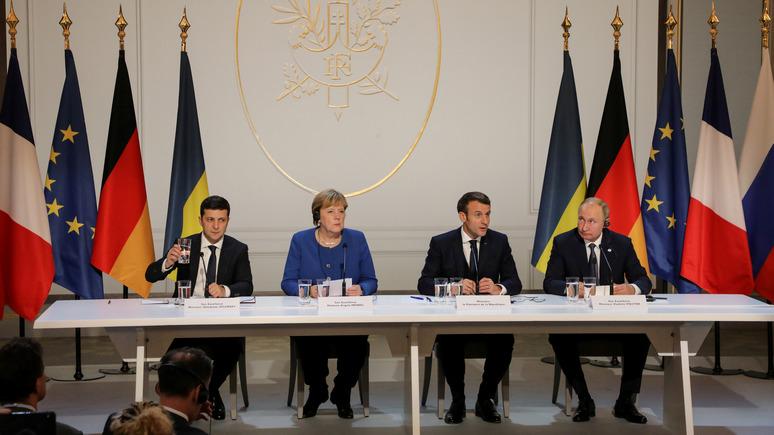 ГОРДОН: офис Зеленского изменил текст заявления лидеров стран «нормандской четвёрки»