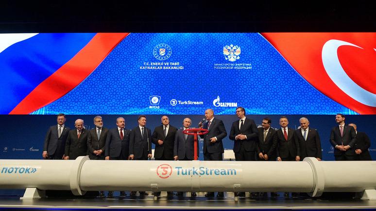 СТРАНА: «Турецкий поток» — южная часть газовых «клещей» России