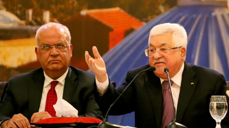 Independent: Аббас отказался отвечать на звонки Трампа после его предложения по Израилю