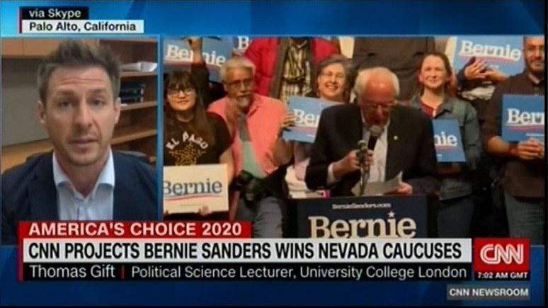 CNN: «убедительная победа» — Сандерс оставил далеко позади соперников в Неваде — ИноТВ