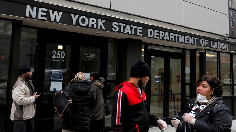 Le Figaro: беспрецедентный всплеск безработицы — 10 миллионов американцев обратились к государству за пособием из-за коронавируса