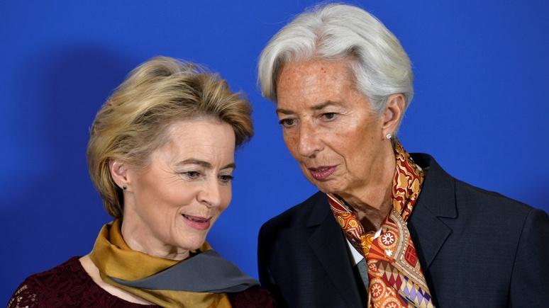 Daily Express: фон дер Ляйен и Лагард уличили в «отвратительной» жадности