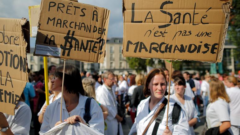Valeurs actuelles: «белые халаты» после «жёлтых жилетов» —  Макрон рискует нарваться на новую волну протестов