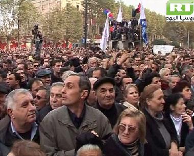 دعوة لإيقاف ملاحقة زعماء المعارضة الجورجية