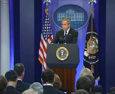 الرئيس الأمريكي جورج بوش