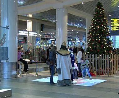 عيد راس السنة في مطار دوموديدوفو