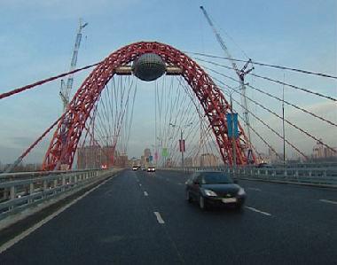 أعلى جسر أوربي في موسكو