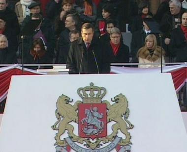 تنصيب الرئيس الجورجي على خلفية مظاهرات المعارضة
