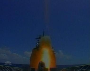 اطلاق صاروخ باليستي باتجاه قمر تجسس امريكي