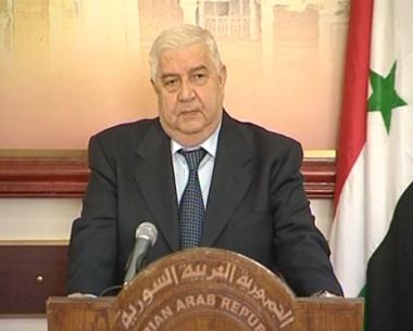 المعلم: سوريا مستعدة للتفاوض مع إسرائيل