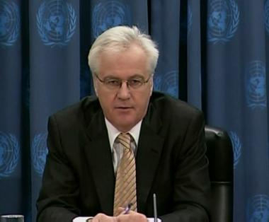 مندوب روسيا الدائم لدى الامم المتحدة فيتالي تشوركين
