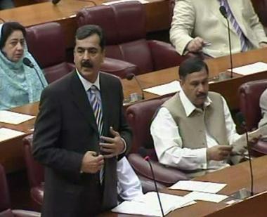 البرلمان الباكستاني يؤيد بالاجماع تعيين جيلاني رئيسا للوزراء