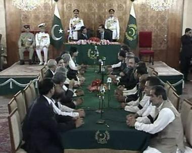 باكستان:حكومة جيلاني تؤدي اليمين الدستورية