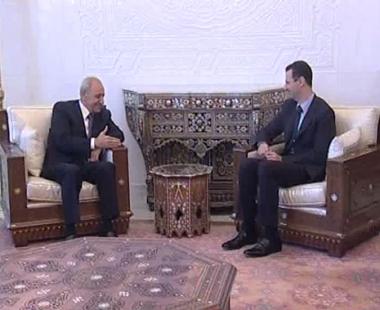 الأسد يبحث مع بري سبل إيجاد مخرج لأزمة لبنان