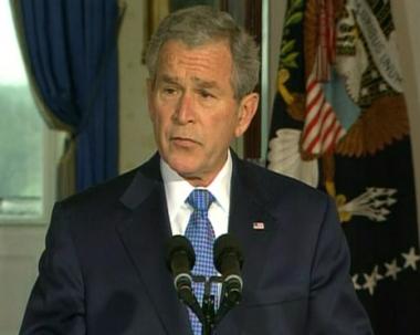 بوش:التحالف يسير على الطريق الصحيح لإرساء الأمن