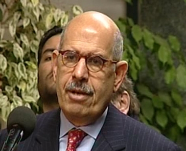 محمد البرادعي المدير العام للوكالة الدولية للطاقة الذرية