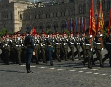 التدريبات النهائية للاستعراض العسكري استعدادا للاحتفال بعيد النصر