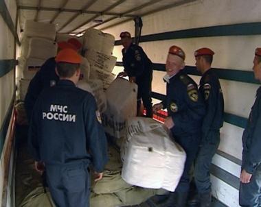 مساعدات روسية لمنكوبي إعصار نرجس