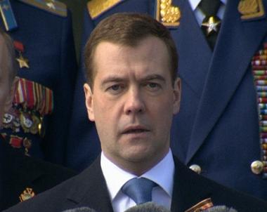 الرئيس مدفيديف في حفل الإستقبال