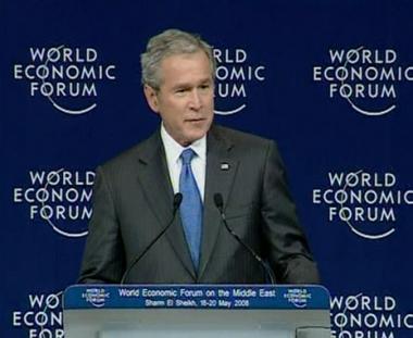 بوش يعد العرب بالسلام ويحذرهم من حماس وحزب الله