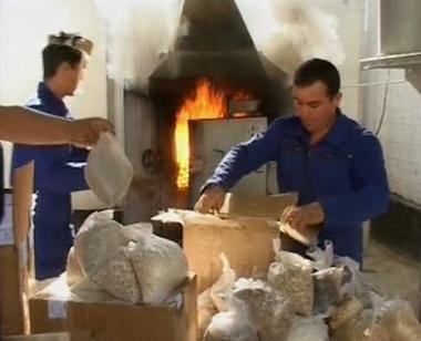 إتلاف مئات الكيلوغرامات من المخدرات في طاجيكستان