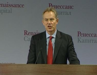 بلير يدعو إلى فتح أسواق الإتحاد الأوروبي أمام الاستثمارات الروسية