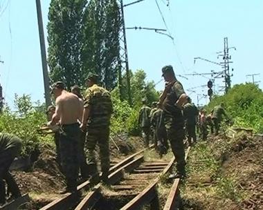 تفجير خط سكك حديدية في أبخازيا