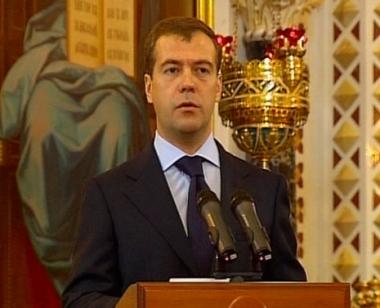 مدفيديف يؤكد أهمية اعتناق روسيا للأرثوذوكسية