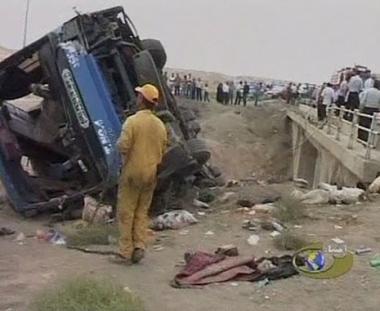 مصرع 25 شخصا وجرح اخرين نتيجة حادث سير في ايران