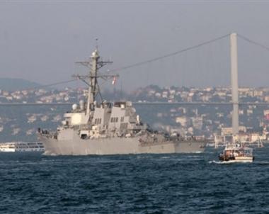 وصول سفينة حربية امريكية الى باتومي تحمل مساعدات لجورجيا