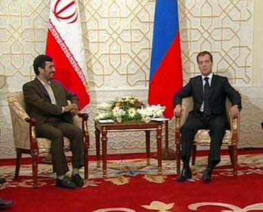 الرئيسان مدفيديف ونجاد يبحثان أحداث القوقاز والملف النووي الإيراني