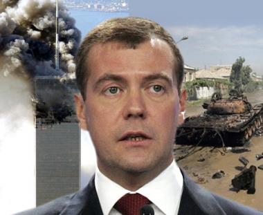 مدفيديف: الحرب في القوقاز شبيهة بأحداث 11 سبتمبر في امريكا